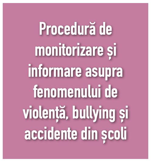 procedura de monitorizare violență