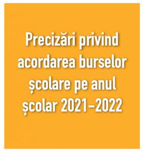 burse scolare 2021-2022